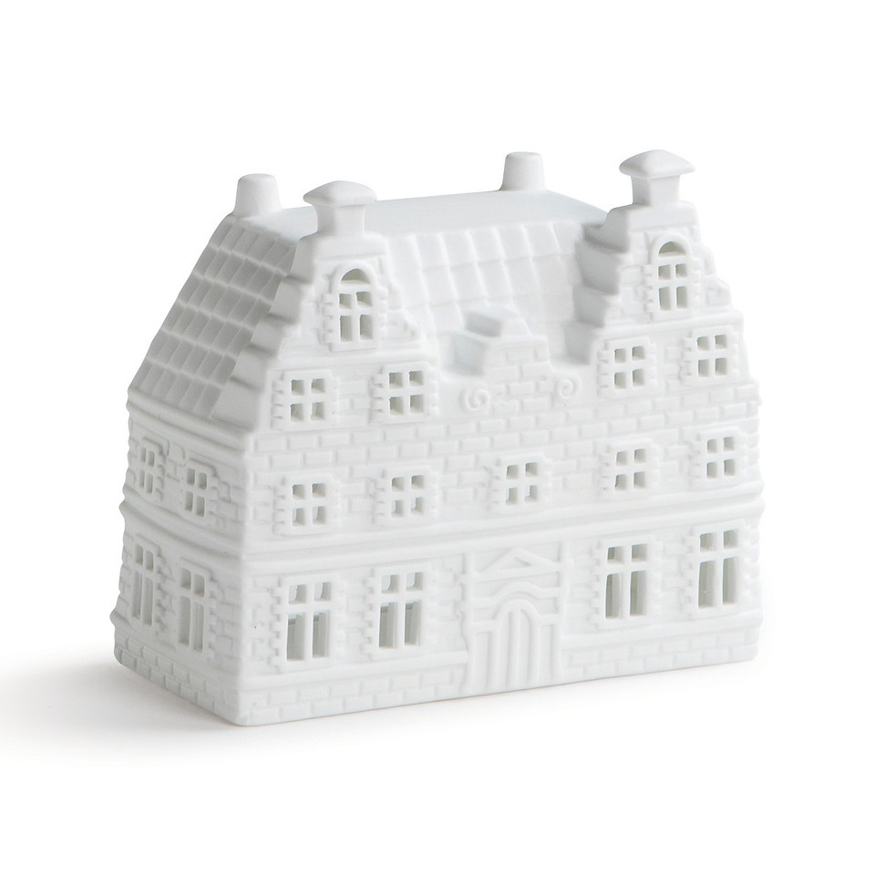 &Klevering Tealight holder Canal house stepped gable large