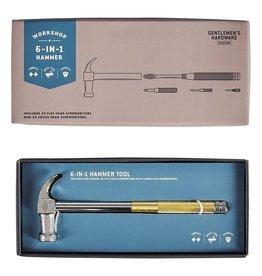 Gentlemen's Hardware Hammer Multi Tool 6 in 1
