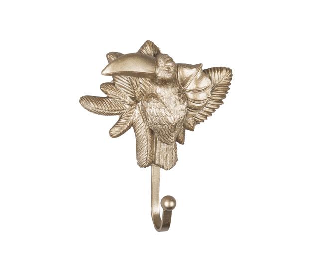 Present Time Coat Hook Toucan Gold