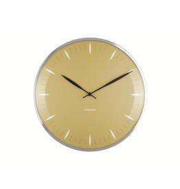 Karlsson Wall Clock Leaf Mustard Yellow
