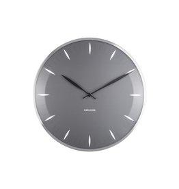 Karlsson Wall Clock Leaf Dark Grey