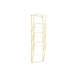 Present Time Magazine holder Steel Wire Gold Plated