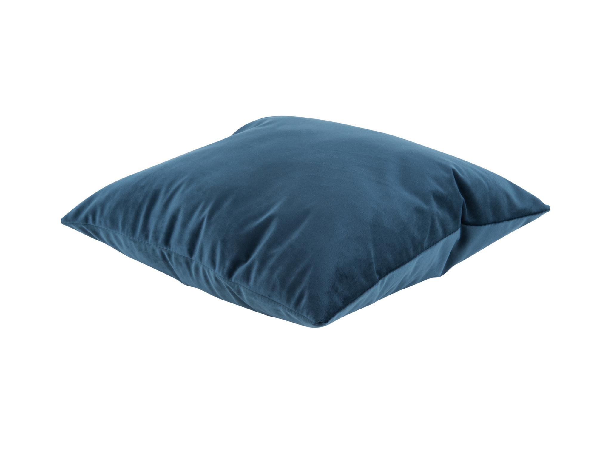 Present Time Cushion Tender velvet night blue 40 x 40 cm