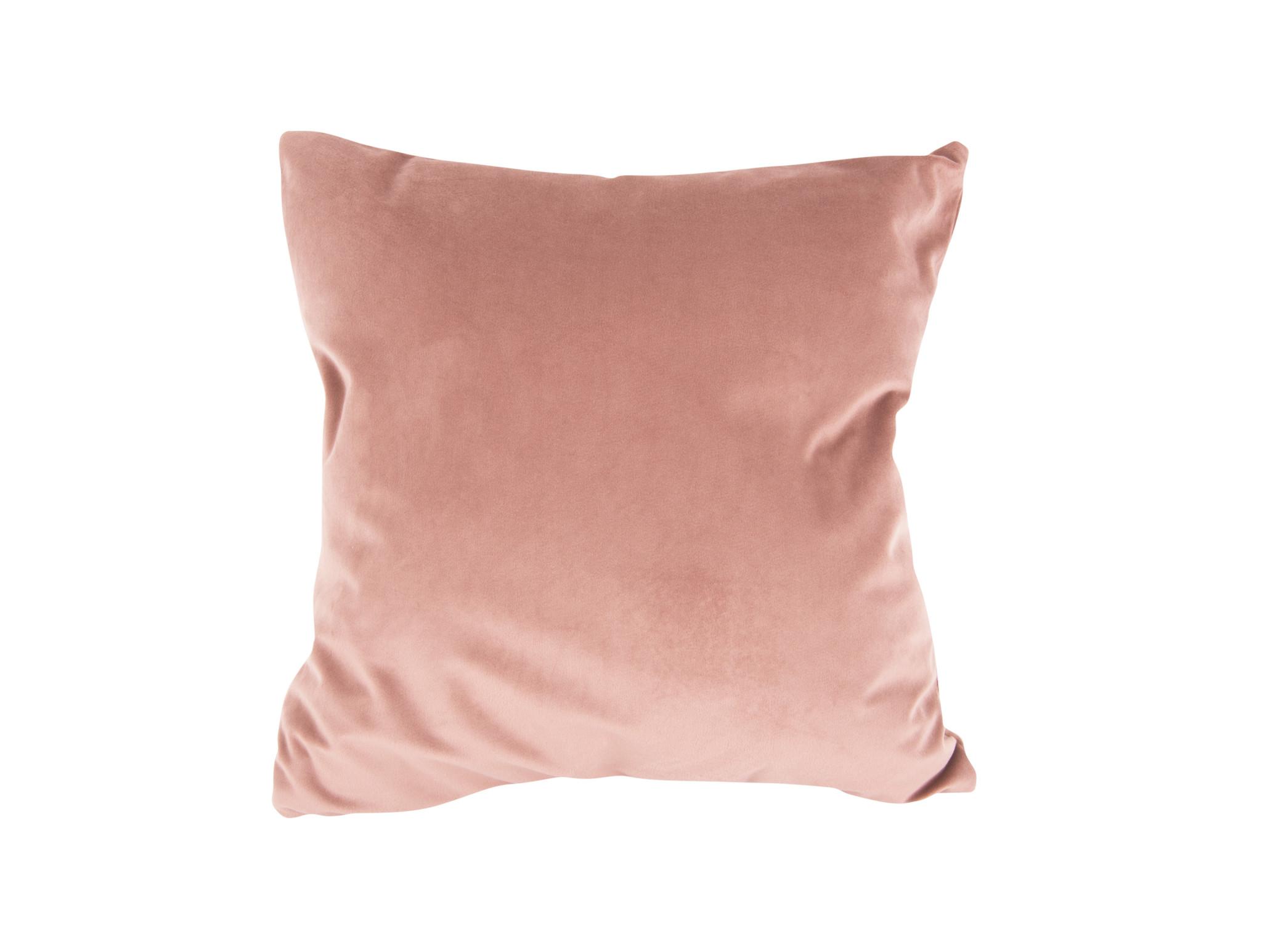 Present Time Cushion Tender velvet faded pink  40 x 40 cm
