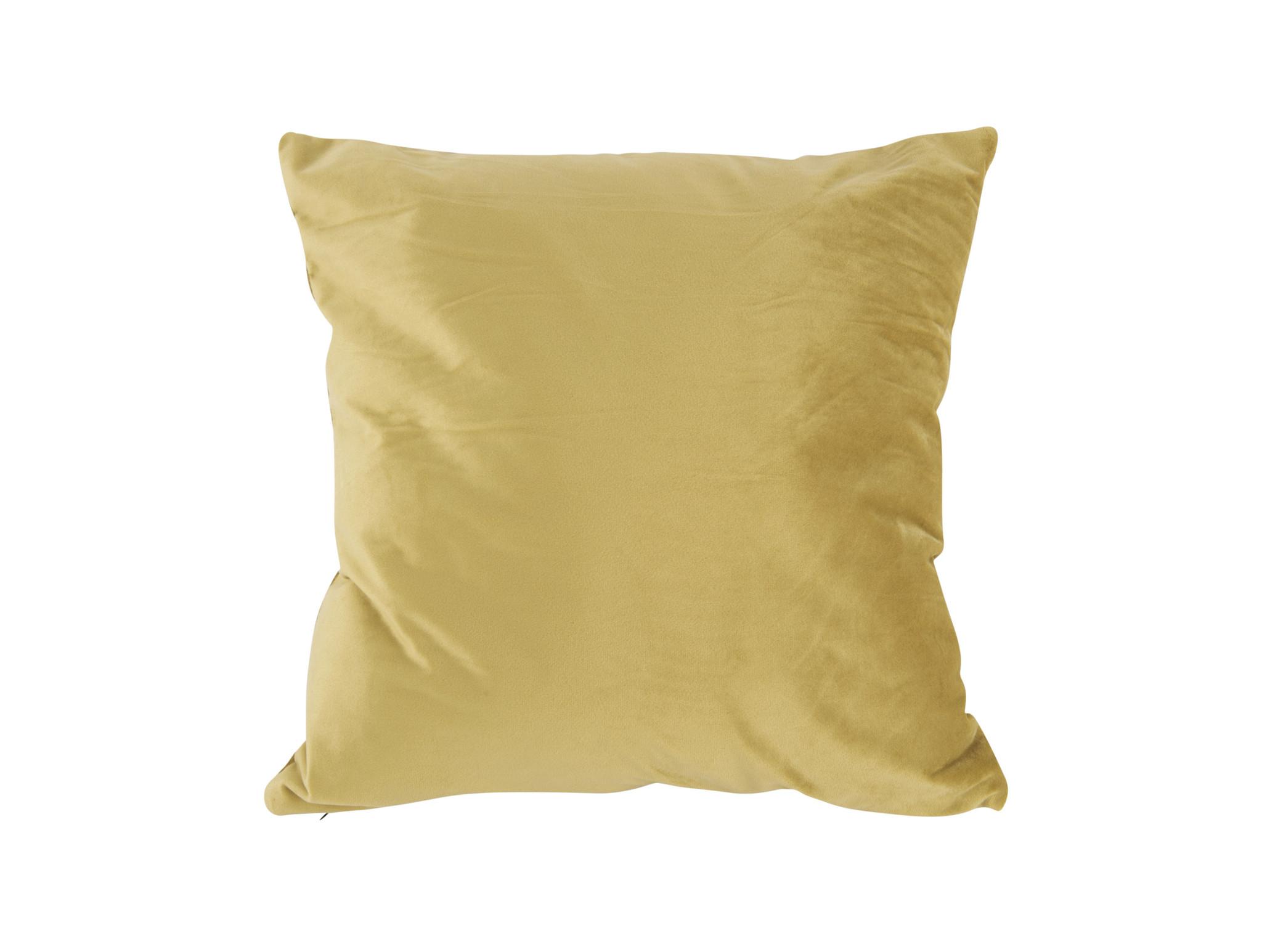 Present Time Cushion Tender velvet olive green 40 x 40 cm    -