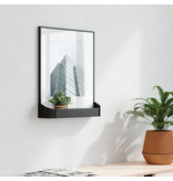 Umbra Matinee Photo Display black with  integrated storage area for small plants