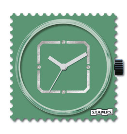 S.T.A.M.P.S Horloge Diamond Green Square