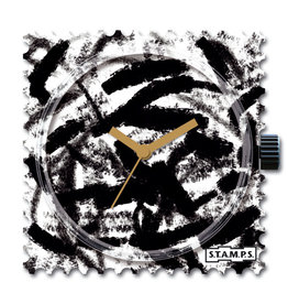 S.T.A.M.P.S Horloge Black brush