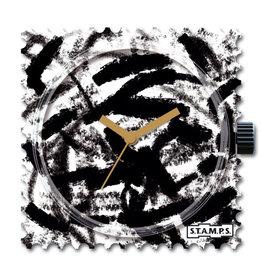 S.T.A.M.P.S Uhr Black brush