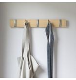 Umbra Coat Rack Flip 5 Hook Natural