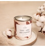 The Gift Label Scented candle in a can You Are Awesome big  jasmine vanilla scent