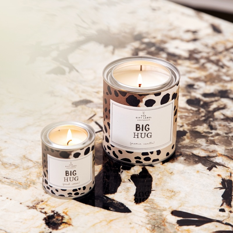 The Gift Label Scented candle in a can Big Hug big  jasmine vanilla scent