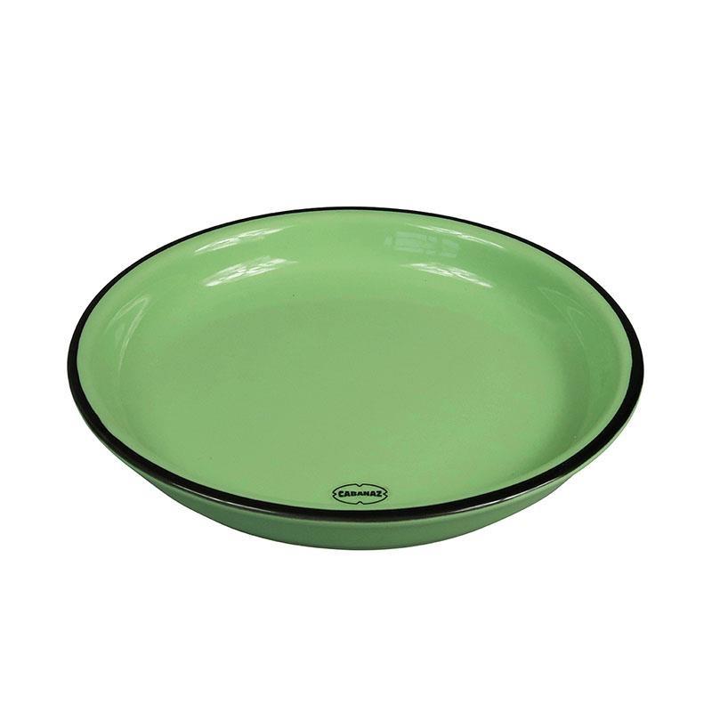 Cabanaz gebaksbord small groen 16 cm