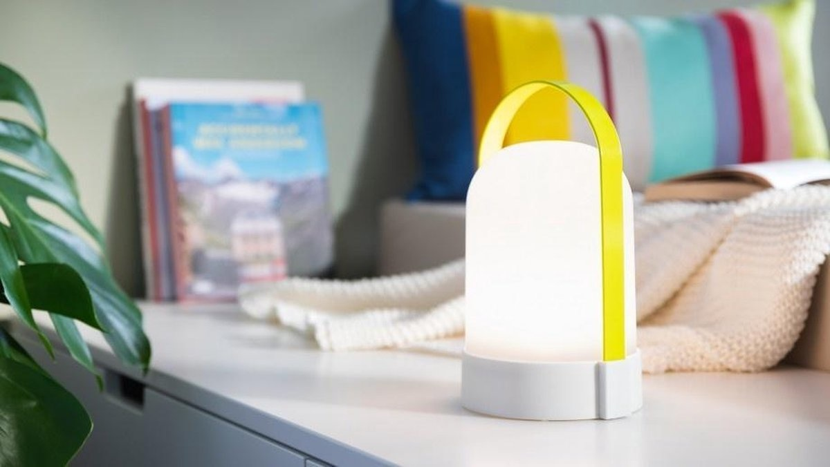 Remember Rechargeable LED Lamp URI Celine Green Grey
