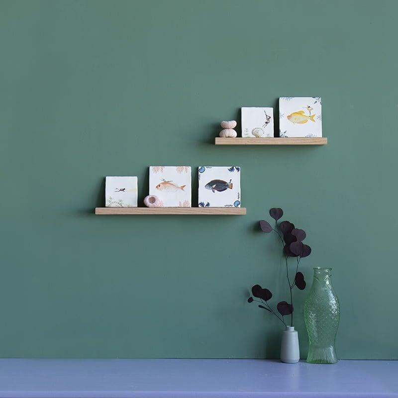 Storytiles  Wooden wall shelf for decorative tile 46cm