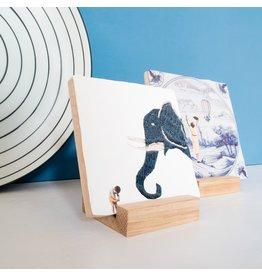 Storytiles  Houder van eikenhout 6,5 cm