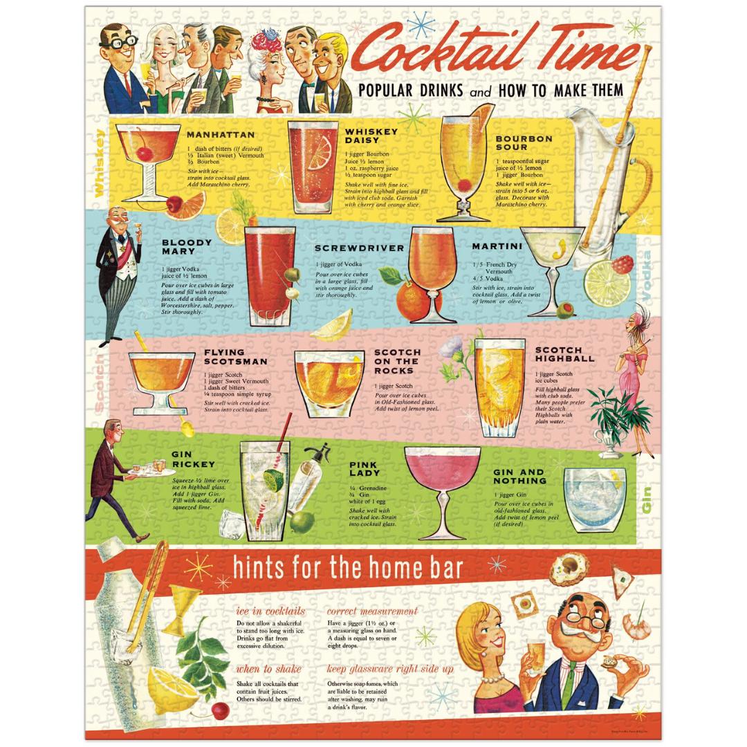Cavallini & Co Vintage Puzzle 1000 pieces Cocktails