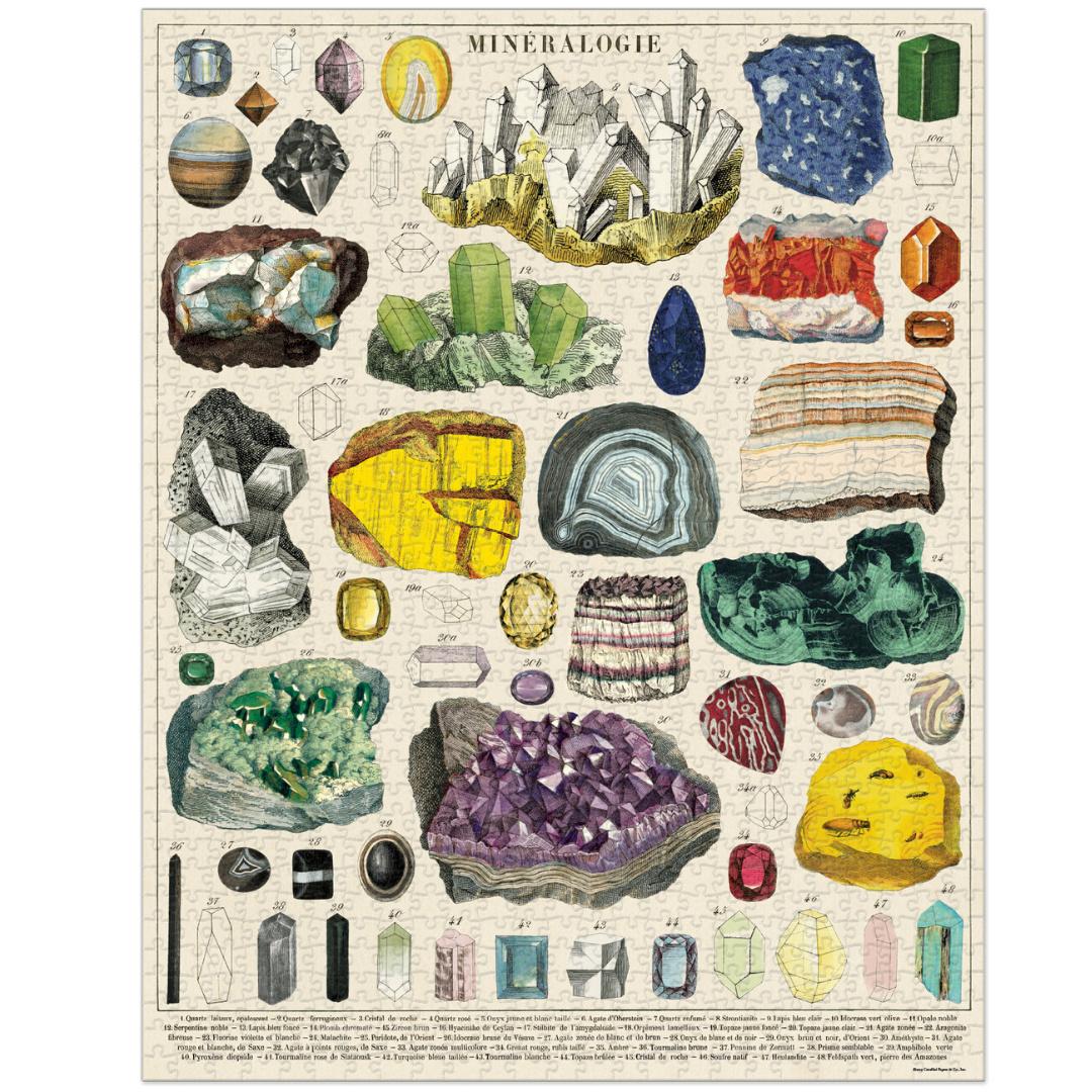 Cavallini & Co Vintage Puzzle 1000 pieces Mineralogy