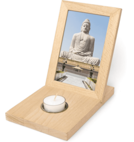 Kikkerland Photo frame with tealight holder large