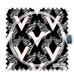 S.T.A.M.P.S Uhr Geometric Zebra