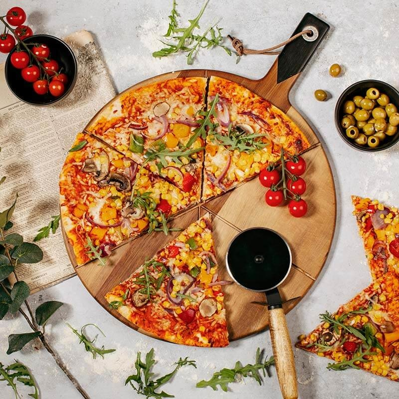 Gentlemen's Hardware Pizza Cutter and Serving Board