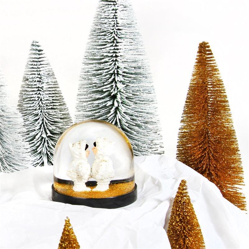&Klevering Glitter Ball Eskimos gold