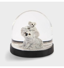 &Klevering Snow Globe Koala with baby