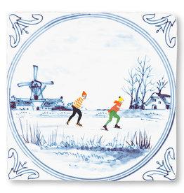 Storytiles  Dekorative Fliese Niederländischer Winter medium