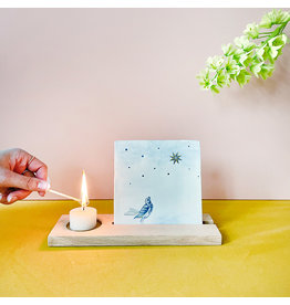 Storytiles  Wooden Tile and Candle Holder