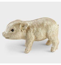 &Klevering Spardose Schwein gold