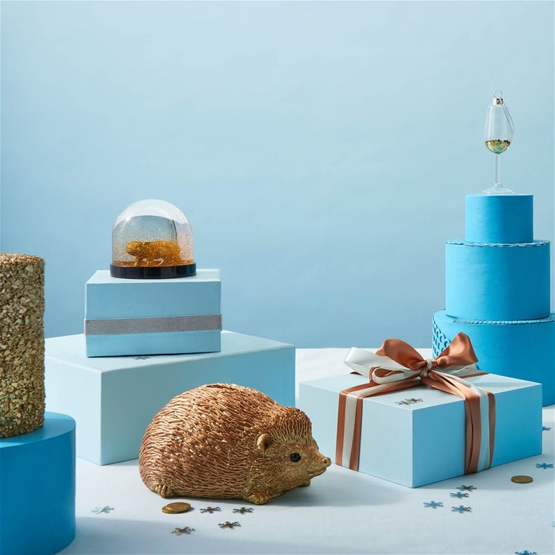 &Klevering Coinbank Hedgehog gold
