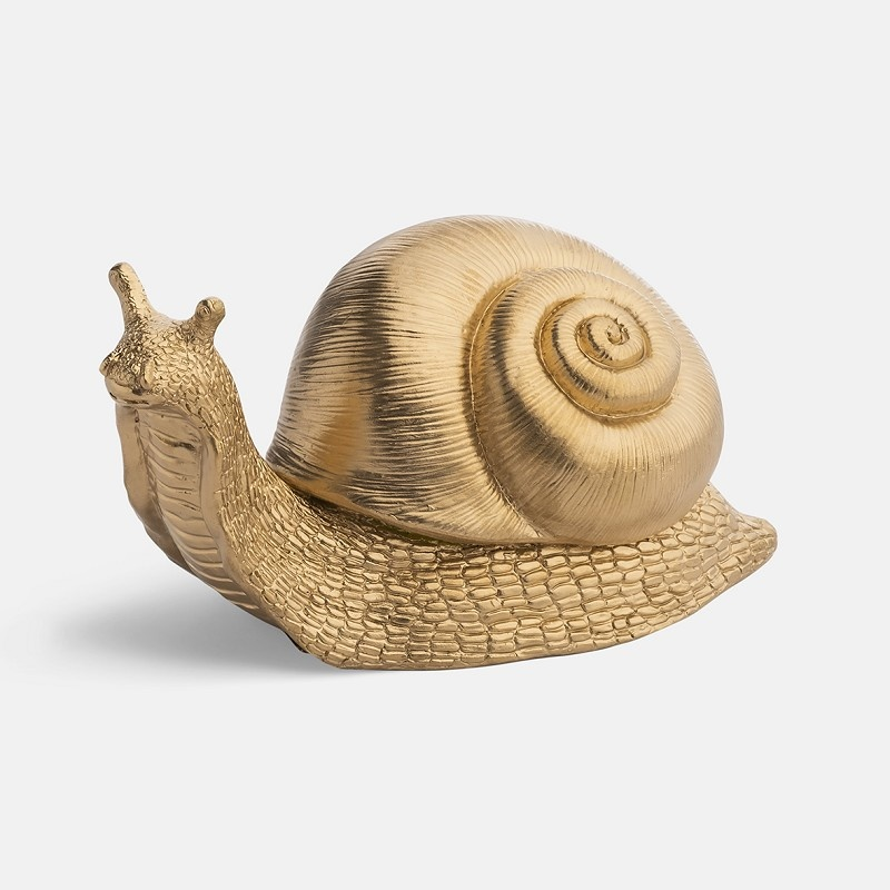 &Klevering Coinbank Snail gold