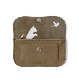 Keecie Wallet Cat Chase Small moss used look