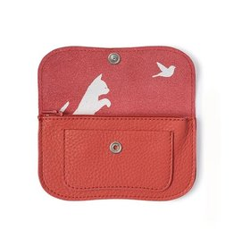 Keecie Wallet Cat Chase Small coral