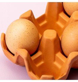 Kikkerland Terracotta Eierhouder voor 6 eieren