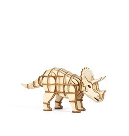 Kikkerland 3-D Wooden Puzzle Dino's Triceratops