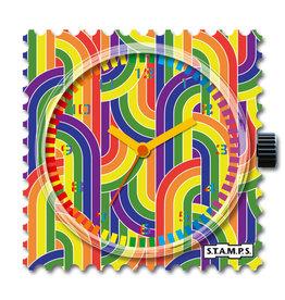 S.T.A.M.P.S Horloge Retro Rainbow
