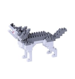 Nano Blocks Building Kit Gray Wolf