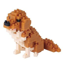 Nano Blocks Building Kit Golden Retriever