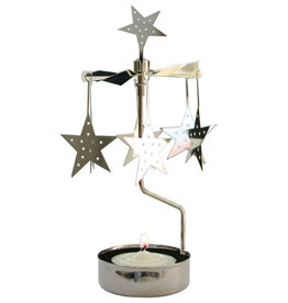 Pluto Produkter Rotary Tea Light Holder Stars Silver