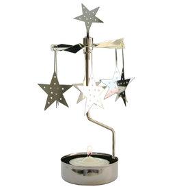 Pluto Produkter Rotary Teelichthalter Sterne Silber