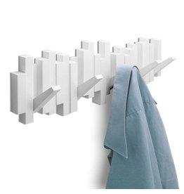 Umbra Coat Rack Sticks Multi Hook White
