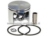Zuiger Ø 44 mm voor Husqvarna 246 Kettingzaag, Motorzaag Zuiger Compleet met Pistonpen, Zuigerveren en Borgclips Zuiger wordt ook gebruikt op Jonsered en Partner Kettingzagen
