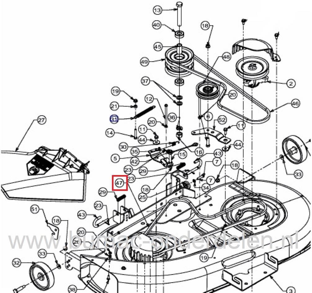 Uitgelezene V snaar voor Aandrijving Messen van 42 Inch - 107 Cm Zijuitworp of KL-07