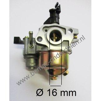 Honda Carburateur voor de GX110 en GX120 Motoren op Carts, Kloofmachines, Houtversnipperaars, Aggregaten, Generatoren, Hoogwerkers, Bobcats, Onkruidsbestrijdings machines, Trilplaten en dergelijk