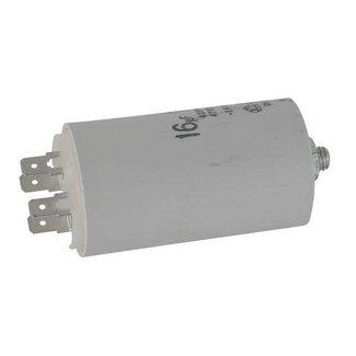 Condensator 16 µF voor Elektrische Grasmaaier, Grasmachine, Hakselaar, Hogedrukreiniger.