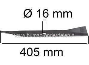 Mes voor Hayter Harrier 41 Cm Walsmaaier Hayter 41EL, 41P, 41SP, 374, 375, 379 Grasmaaiers Lengte 405 mm, Breedte  64 mm, Asgat 16 mm