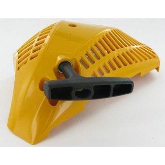 Starter Geel voor Stiga SP350 - SP350Q - SP352 - SP400 - SP400Q, Castelgarden XC35 - XC40 - XC350 - XC350Q - XC400 - XC400Q, Alpina A350 - A350Q - P352 - A400 - A400Q, Mountfield MC3514 - MC3514Q, Motorzaag, Kettingzaag, Handstarter Compleet, Castel Garde