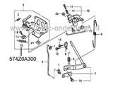 Veer voor Carburateur - Regelplaat op Honda GCV520, GCV530, GXV520 en GXV530 Motor op Zitmaaiers, Frontmaaiers en Tuintrekkers