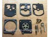 Membraan Reparatie set voor Zama Carburateur op Husqvarna Kettingzaag, Bosmaaier, Bladblazer, Strimmer en Heggenschaar.